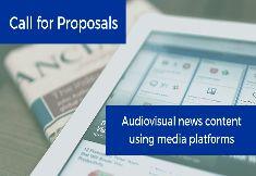 Nova convocatòria de suport al 'Contingut de notícies audiovisuals mitjançant plataformes multimèdia en diversos idiomes de la UE'