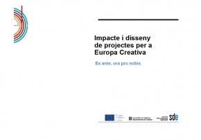 Presentació Impacte dels projectes - #EuropeCalls Cultura - Taller de projectes de cooperació europea