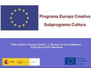 Presentació Europa Creativa Cultura - #EuropeCalls Cultura - Taller de projectes de cooperació europea
