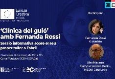 Sessió informativa en línia sobre el taller gratuït de reescriptura de guió que impartirà Fernanda Rossi a l'abril