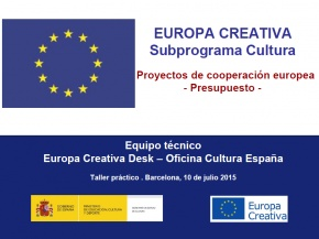 Presentació Elaboració del Pressupost - #EuropeCalls Cultura - Taller de projectes de cooperació europea